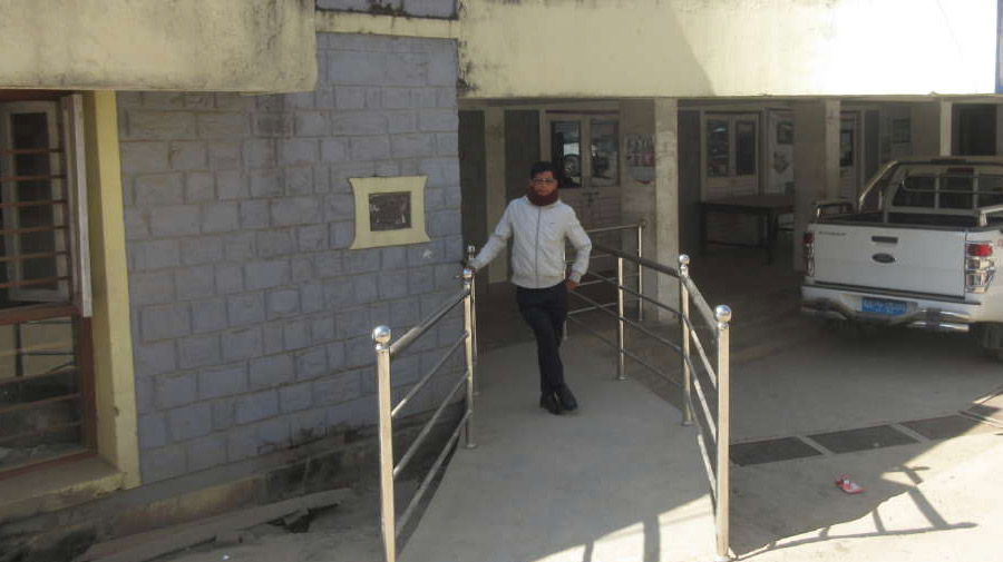 Most public buildings in Gorkha are accessible for people with disabilities