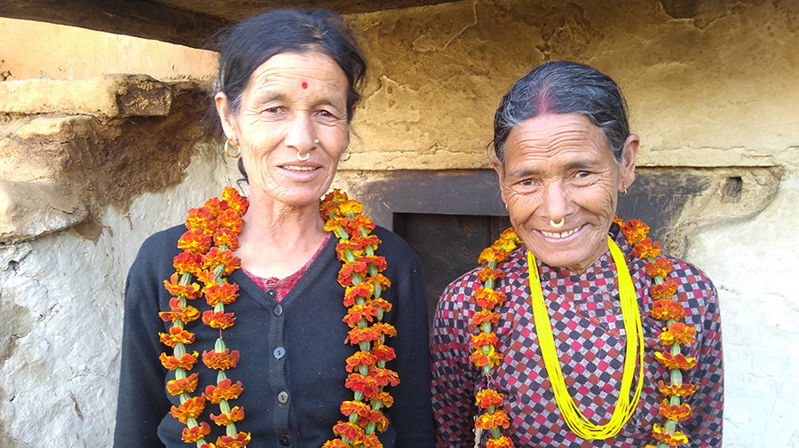 The practice of banishing menstruating women to a cowshed or small mud hut