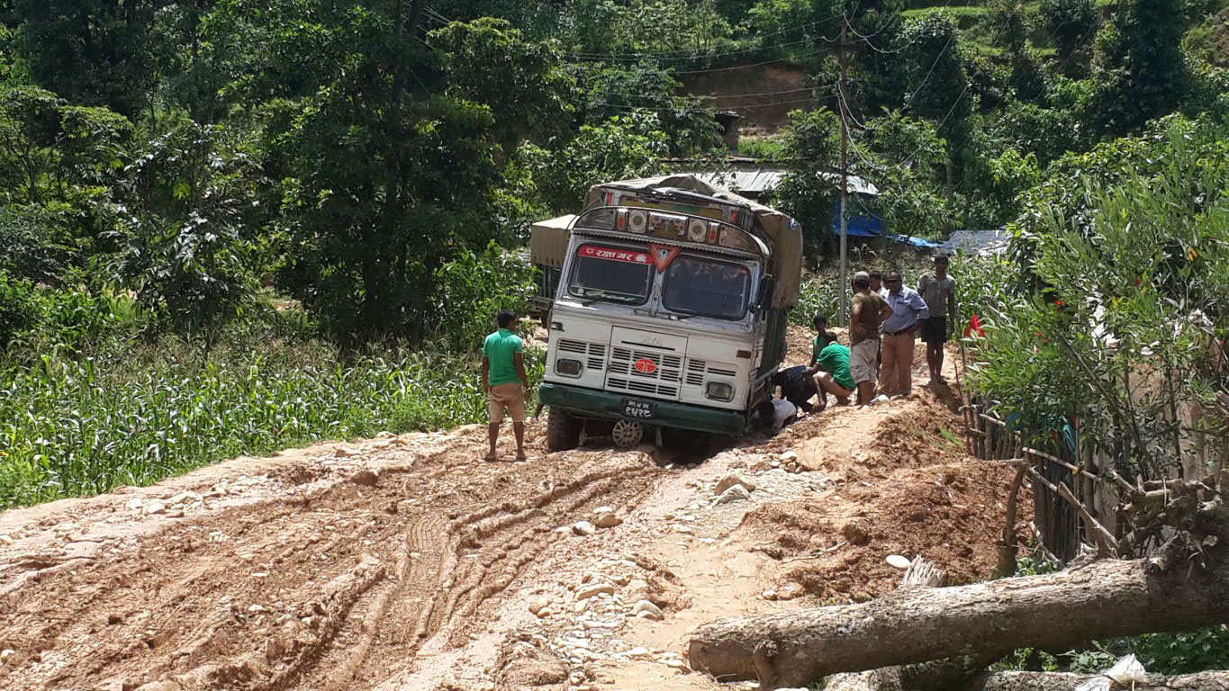 Travel to Thumi with relief supplies