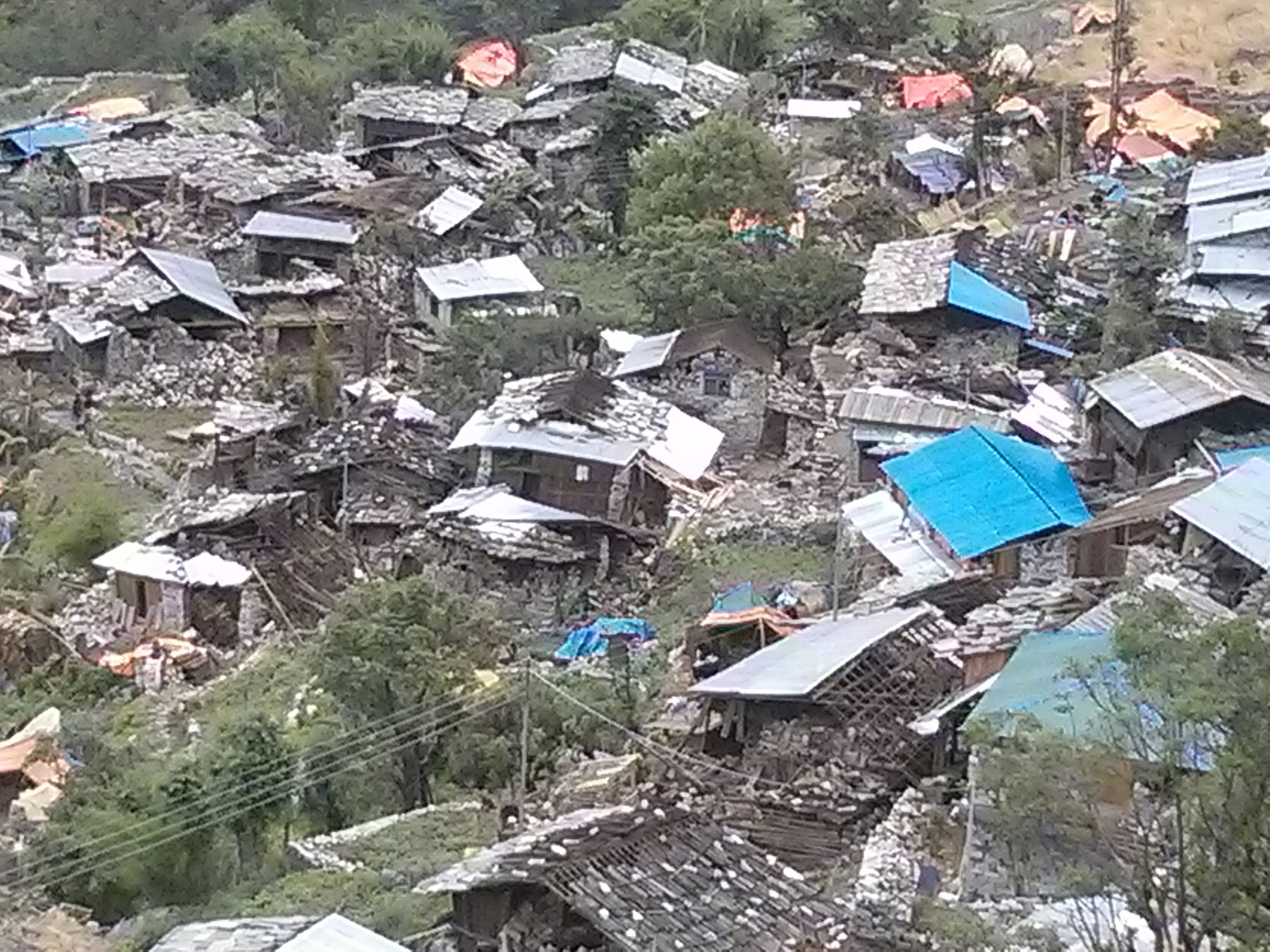 Collapsed village
