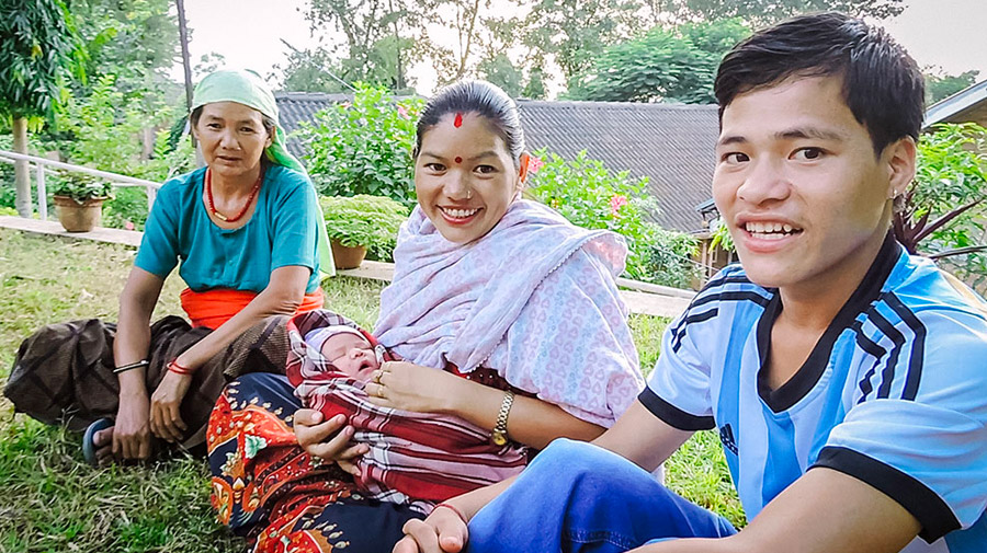 Ganga's life was shattered after her first baby was still-born