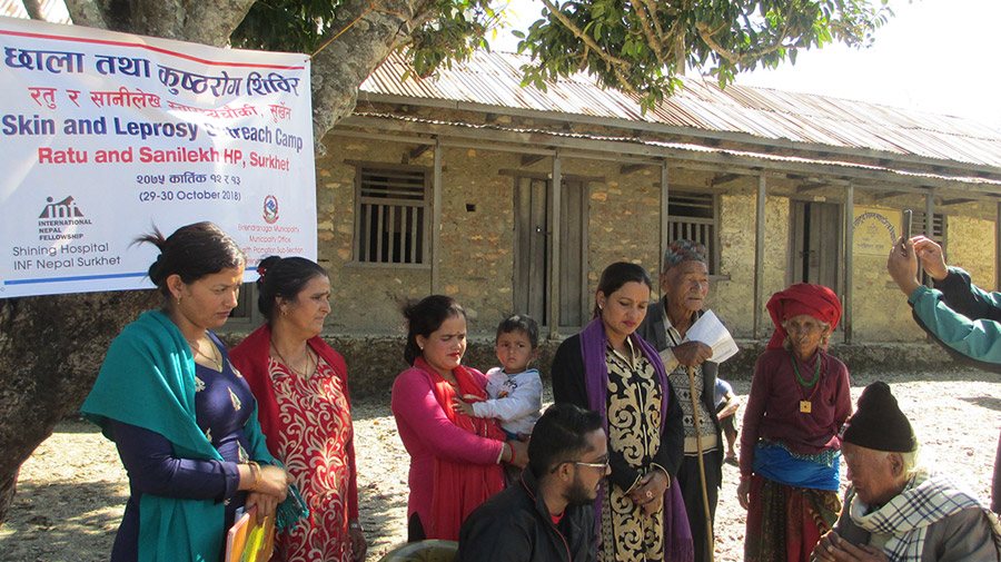 TY Skin Outreach Camp in Rutu and Sanilekh