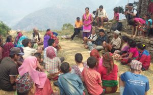 A self-help group set up after the earthquake in Gorkha, Nepal