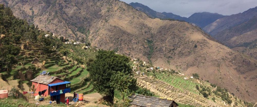 Hillside village in Kalikot, Nepal
