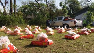 INF Nepal prepares food packages for distribution