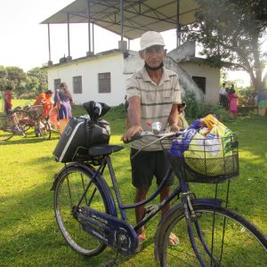 Man in Nawalparasi Nepal gets food relief from ACN